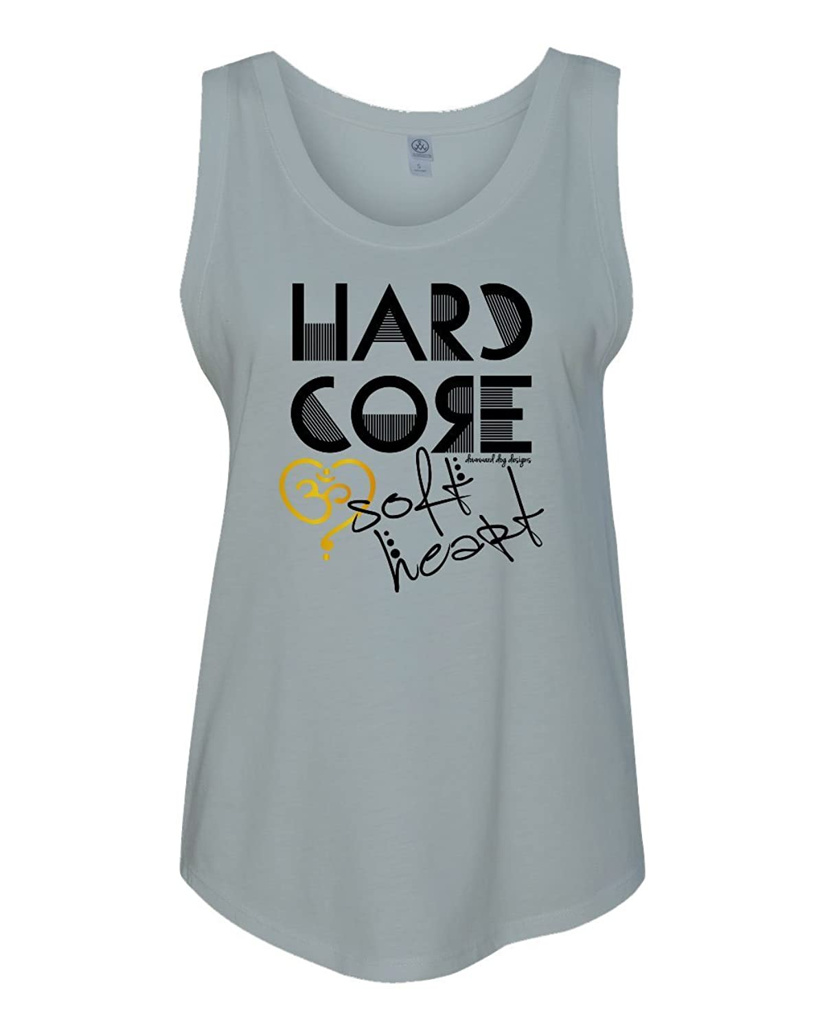 Hard Core, Soft Heart Relaxed Fit Muscle Tee