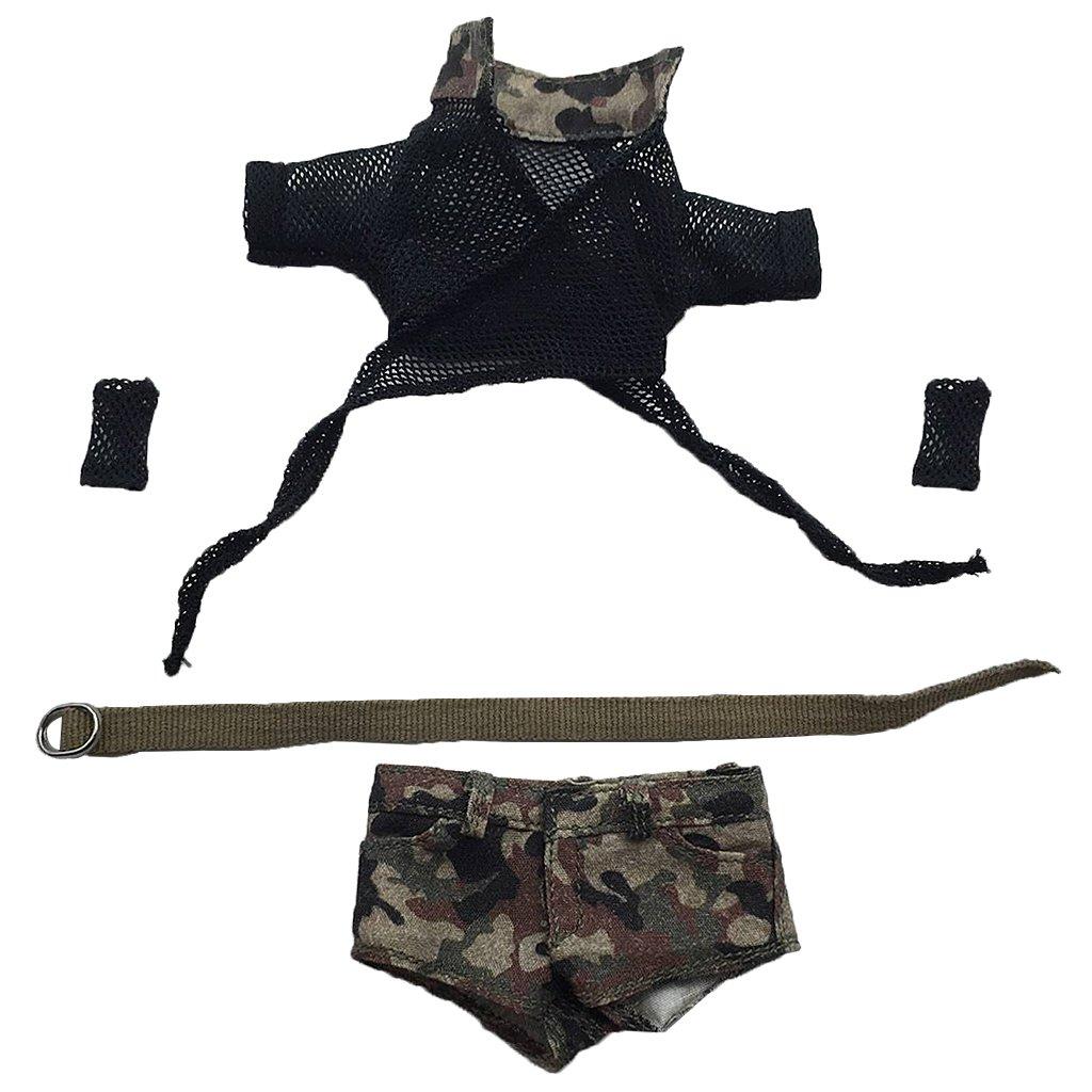 Amazon.es: Gazechimp Escala 1/6 Set de Bra Top Camouflage Pantalones Cortos para 12 Pulgada Figura de Acción de Mujer - C: Juguetes y juegos