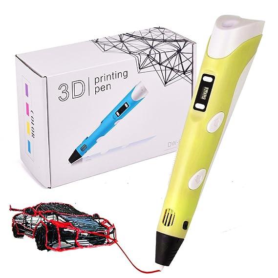 Lápiz de impresión 3D con pantalla LCD + 11 unidades de filamento ...