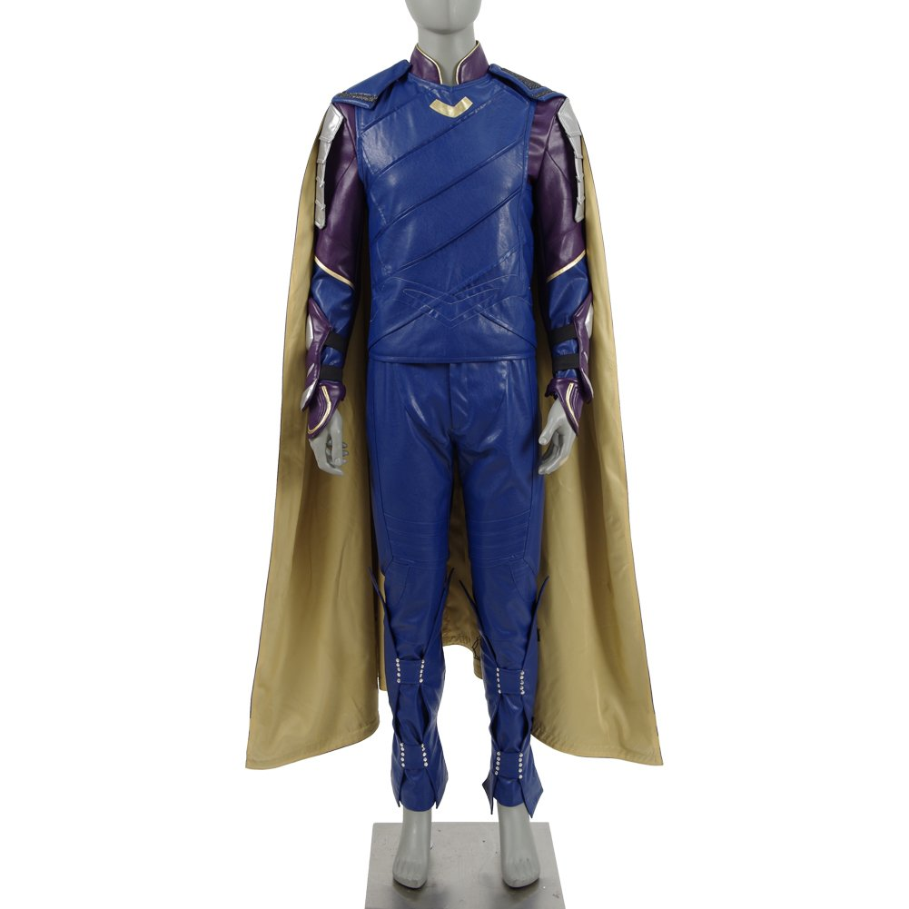 Expeke Halloween Costumes Loptr Cosplay Leather Armor Battle Outfit for Men (XXL, Blue)