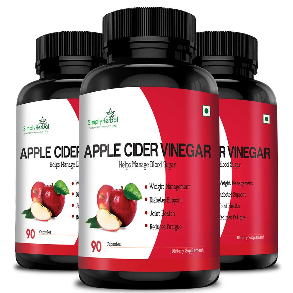 Simply Herbal Apple Cider Vinegar Capsules 500Mg - 90 Veg Capsules (3)