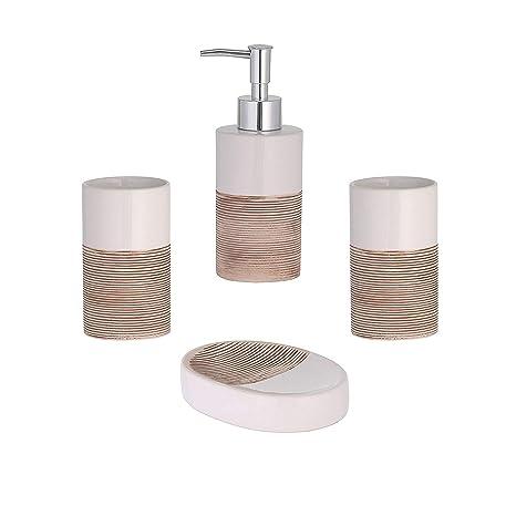 Axentia accesorios Rimini de de 4 piezas de utensilios de baño Set de baño dispensador de ...