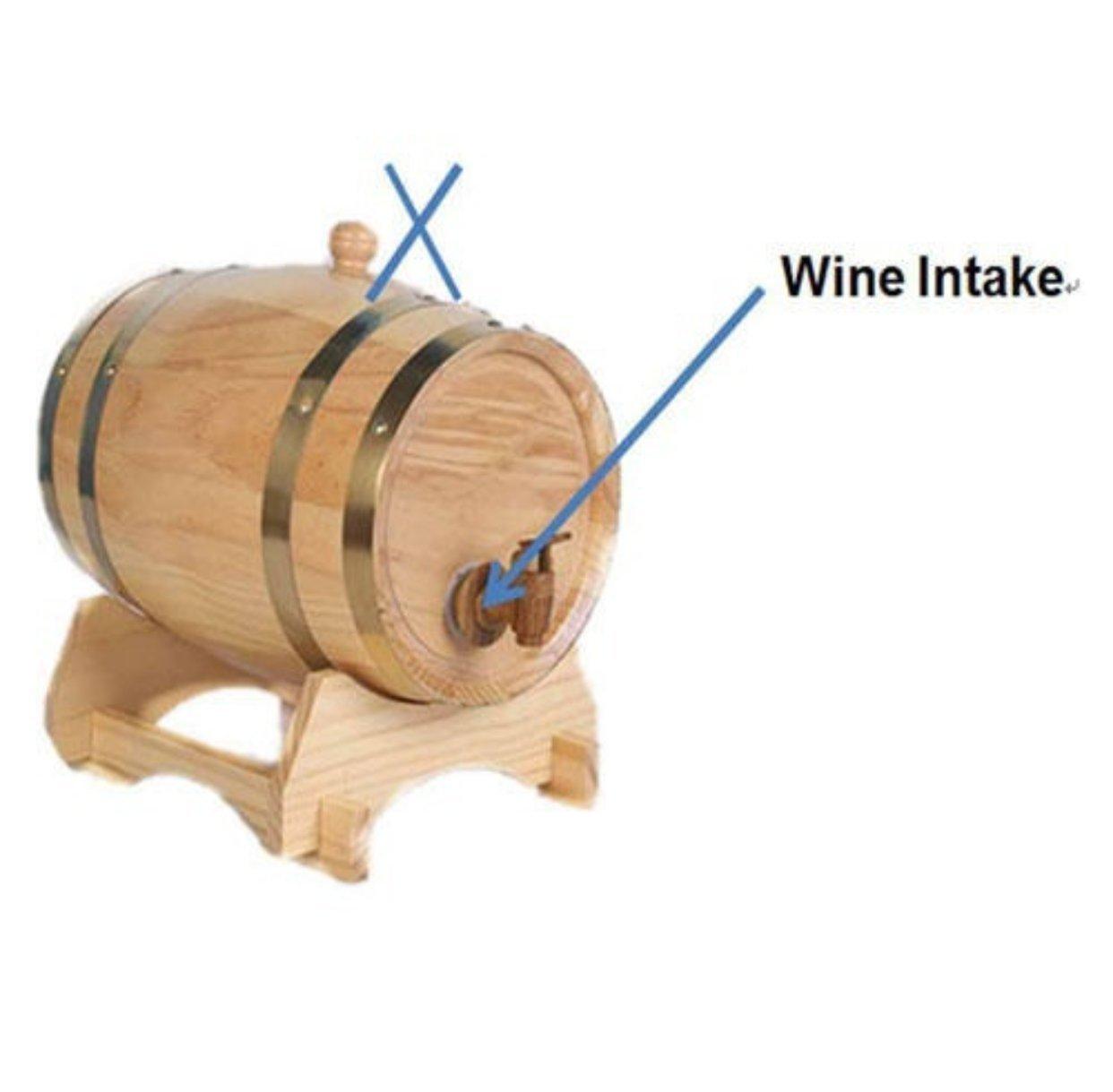 1.5L Oak Barrel Wooden Barrel for Storage or Aging Wine & Spirits Wine Barrels Wine Holder (White) Dream Art Wood
