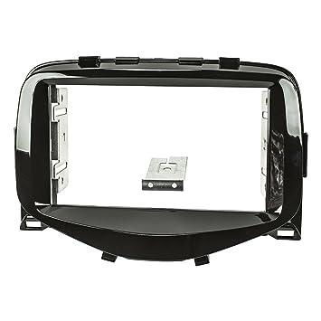 schwarz Peugeot 107 Set f/ür Citroen C1 tomzz Audio /® 2408-017 Radioblende