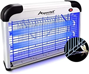 ASPECTEK Upgraded 20W Electronic Bug Zapper , Insect Killer - Mosquito , Fly , Moth , Wasp , Beetle & Other Pests Killer Indoor Residential & Commercial