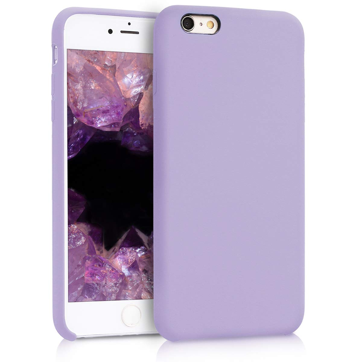 ff11c111c31 Amazon.com  kwmobile TPU Silicone Case for Apple iPhone 6 Plus   6S Plus -  Soft Flexible Rubber Protective Cover - Lavender  Cell Phones   Accessories