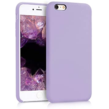 kwmobile Funda compatible con Apple iPhone 6 Plus / 6S Plus - Carcasa de TPU para móvil - Cover trasero en lila