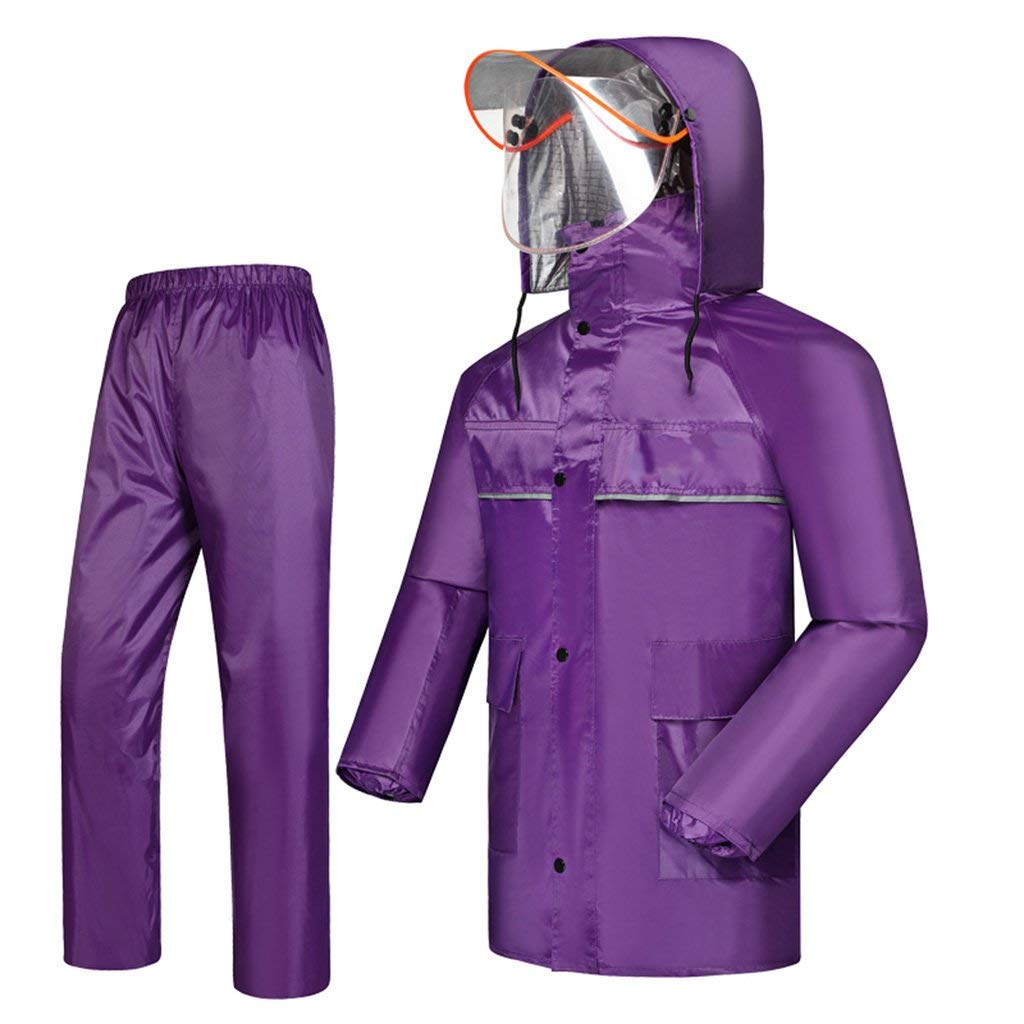 レインコート、男性用、レディース用レインコート、ファッションレインコート、レインプルーフファブリック、レインプルーフおよび通気性(カラー:C-L) B07SN9ZKW9