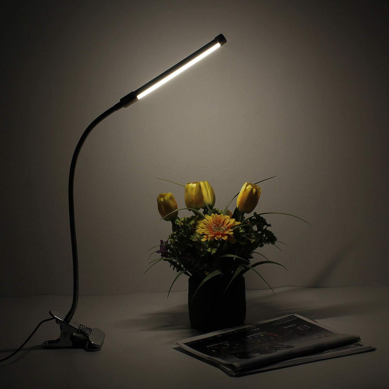 Arbeit. Topwill Led Schreibtischlampe Energieklasse A++ LED-Schreibtischleuchte f/ür B/üro Studieren Kalt//Warm // Natur wei/ß Dimmbar USB Klemmleuchten mit 3 Betriebsarten Lernen,Lesen
