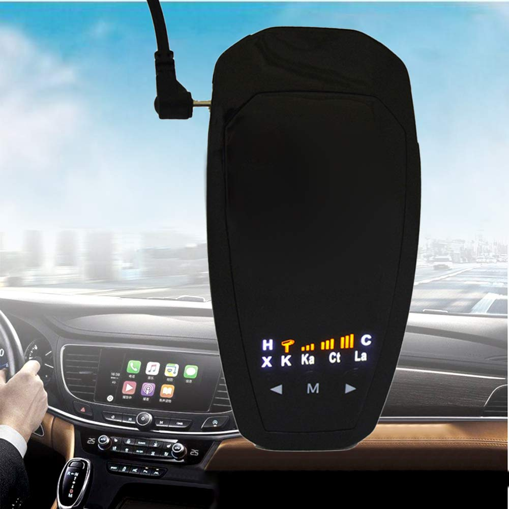 CAheadY V3 Car 360 Degrees Speed Alarm Voice Alert Warning Safety Driving Radar Detector Helpful Tool Accessory Black