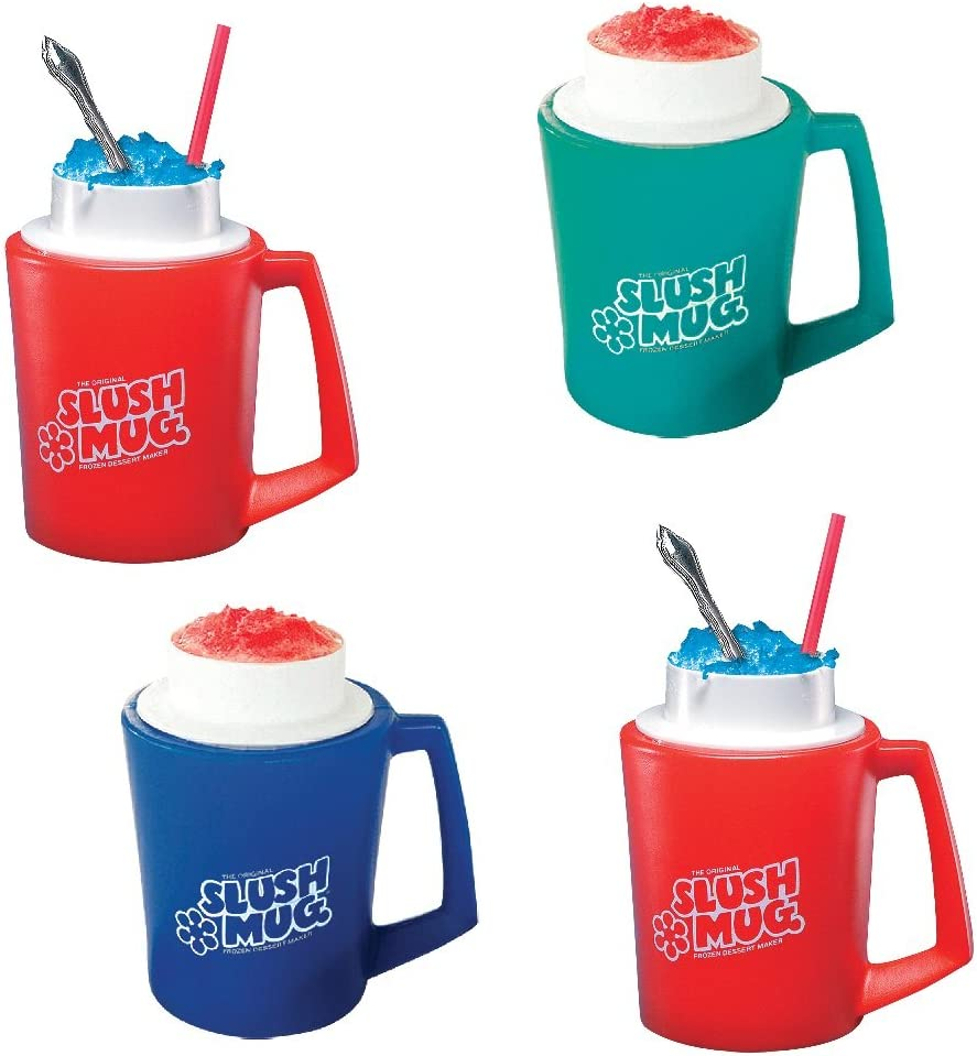 Frozen Magic Slushy Maker Squeeze Cup DIY Homemade Smoothie Cups Freeze Drinks Cup Double Layer Summer Juice Ice Cream Cup for Children Gift Tini Fast Cooling Ice Cream Slushy Maker Blue