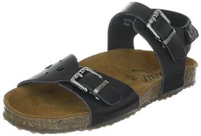 d5b2426bc4e3 Petit by Sofie Schnoor Girls  P121636 Open Toe Sandals Black Size  10 Child  UK