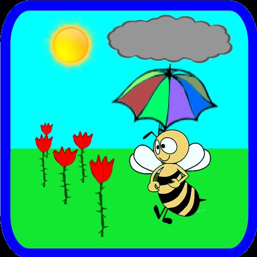 Bee in the Rose Garden