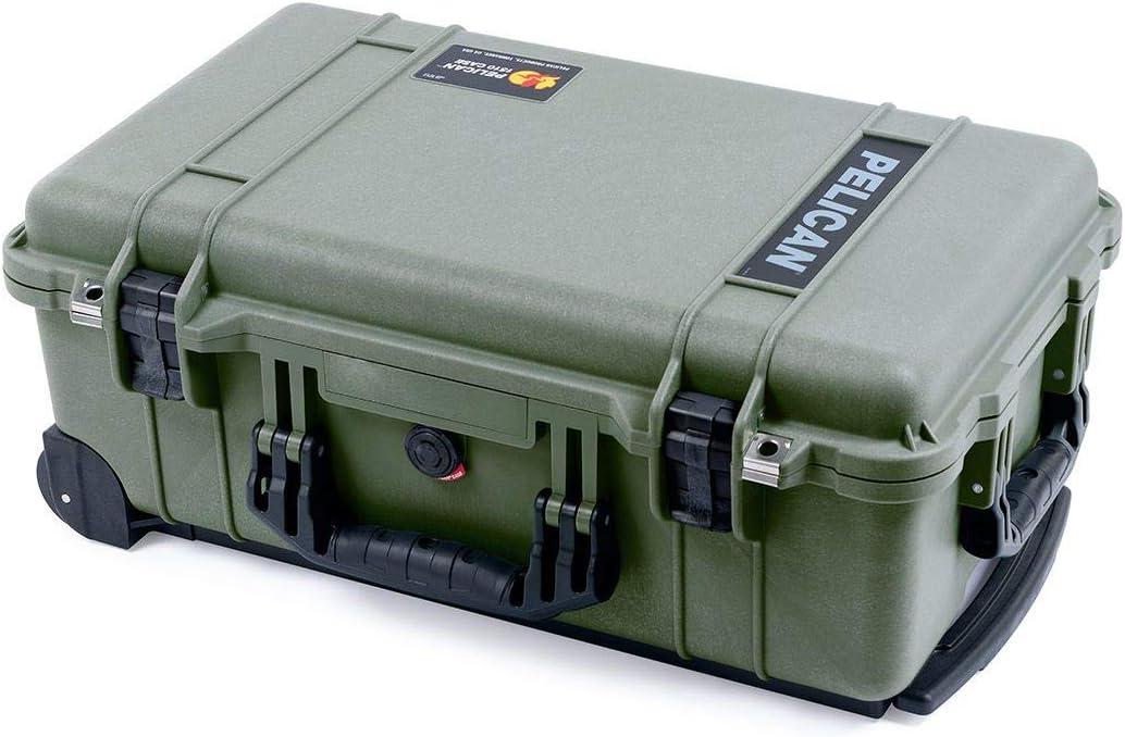 OD Green /& Black Pelican 1510 case with Tool Foam Inserts.