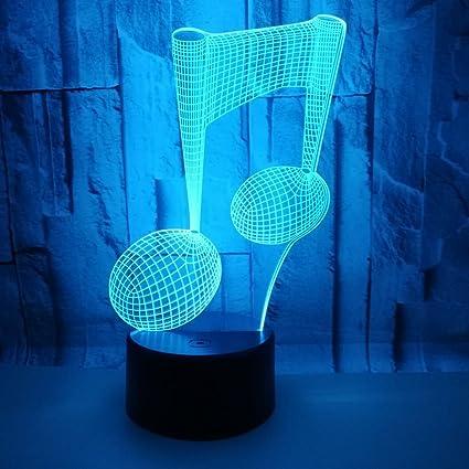 zyang 3d Illusion Visual lámpara LED 7 Colores USB Touch Noche luces para niños USB Tabl