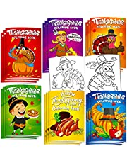 36Pcs Thanksgiving Coloring Books Kids Cute Thanksgiving Coloring Book for Kids All Ages Indoor Activities at Home Party Favors Gift Supplies