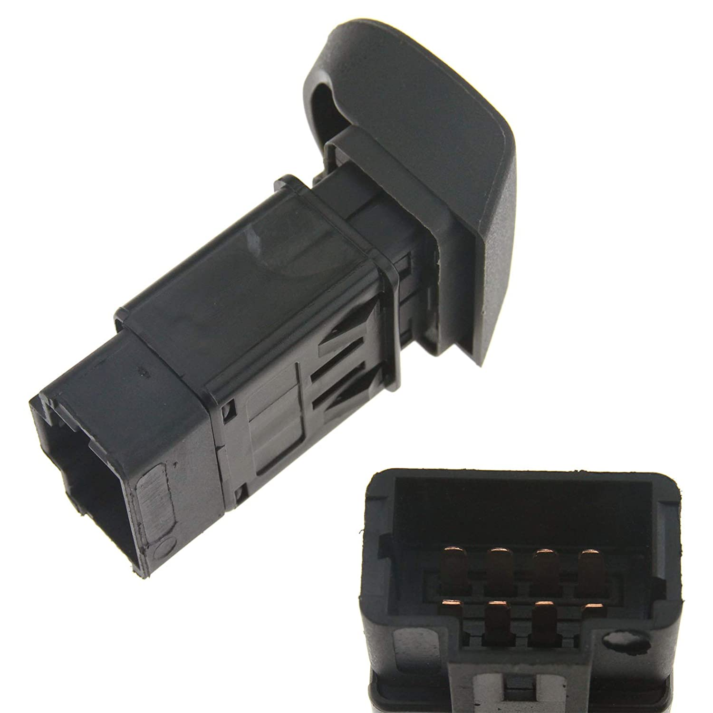 Create Idea Blinkerrelais Druckknopf Warnblinker SCHWARZ Schalter Kompatibel mit Renault Kangoo OEM 7700308821