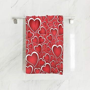 ZZKKO - Toalla de baño con Texto Happy Valentines Loves, para bebé, niños, niñas, Mujeres, Hombres, para casa, Cocina, baño, SPA, Gimnasio, natación, ...