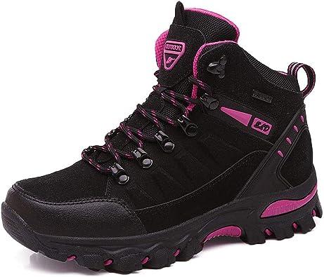 BIGU Zapatillas de Senderismo para Hombre Mujer Outdoor Botas de ...
