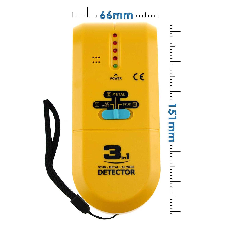 3 en 1 Metal Madera Studs Detector Iron Finder AC Voltage Scanner Wire Tracker: Amazon.es: Industria, empresas y ciencia