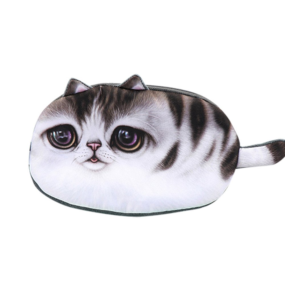 KFSO - Estuche para lápices de gatos, bolsa de almacenamiento, monedero con cremallera, bolsa de cosméticos para niños: Amazon.es: Juguetes y juegos
