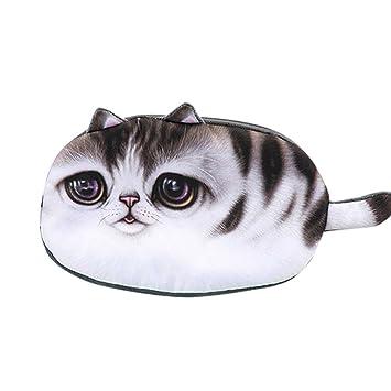 KFSO - Estuche para lápices de gatos, bolsa de almacenamiento, monedero con cremallera,