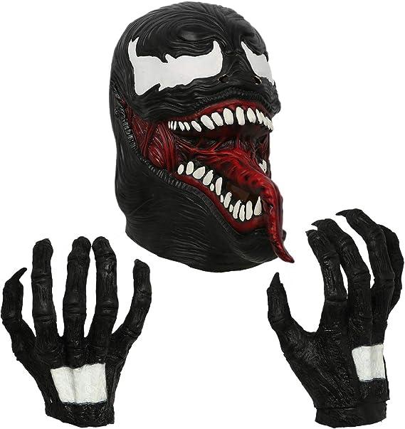 Amazon.com: Xcostume Venom - Guantes de cosplay, máscara ...