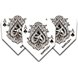 F6040 Ace Of Spades Dimplex Dart Flights STD 4 sets pro pack (12 flights insgesamt).