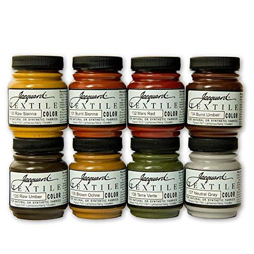 - Jacquard Products Textile Color Paint Set, Earth Tones