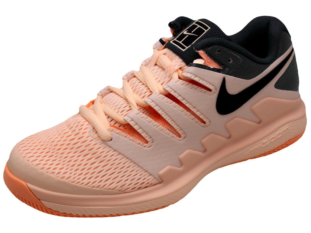 NIKE Womens Zoom Vapor X Tennis Shoes (7 B US, Crimson Tint/Black/Orange Pulse) by NIKE