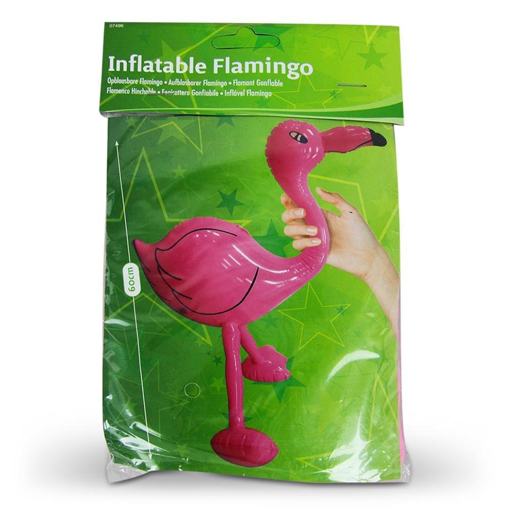 Flamingo aufblasbar 61cm Aufblasvogel Deko Hula Hawaii Party Kinderbadespaß