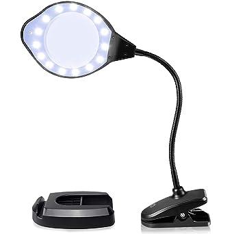 Amazon.com: Joypea - Lámpara de lupa con 3 aumentos, luz LED ...