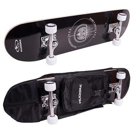 Hudora - Monopatín de Skateboard Columbia Heights ABEC 3 con Mochila, Skateboarding, 12173