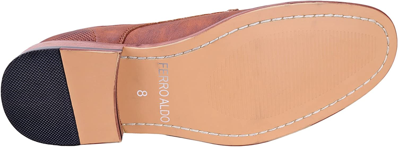 Formal Comfortable Dress Shoes Ferro Aldo Mens Lalo Oxford Dress Shoes Lace-Up Classic Design
