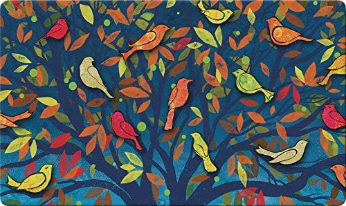 Toland Home Garden 800435 Colorful Birds Doormat, 18 x 30 , Multicolor