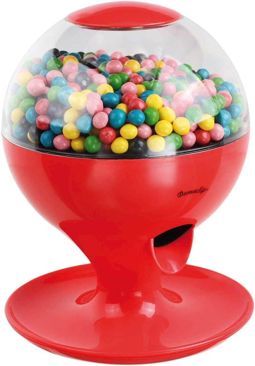De dispensador de dulces caramelos Automat ftalatos dispensador Chicle goteo con sensor de movimiento (batería operativos, tapa desmontable, rojo)