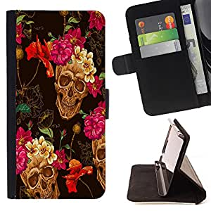 Jordan Colourful Shop -Skull Devil Pattern Sugar Skull Skulls -- Leather Case Absorci¨®n cubierta de la caja de alto impacto FOR Apple Iphone 5C ---