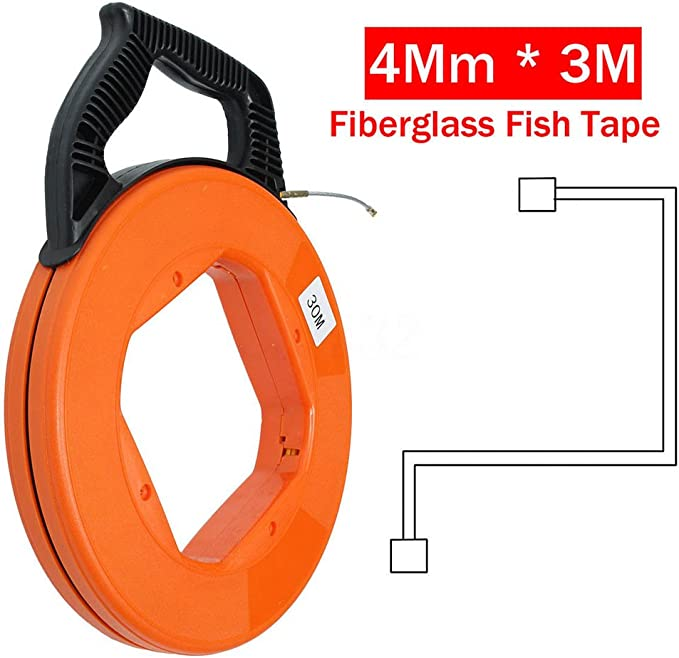 30M 6mm Fiberglas-Kabelabzieher-Fisch-Bandspulen-Rohrleitung 20M Color : 10M CHIMAKA 10M das Rodder zieht Neues DIY Zubeh/ör