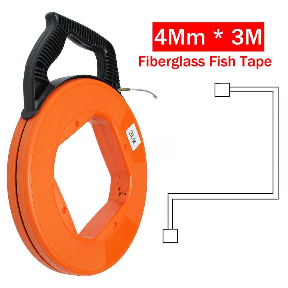 PERG Rate 30/meter in fibra di vetro pesce Tape Reel Puller accensione condotto rodder ziehen cavo filo pesca Strumento