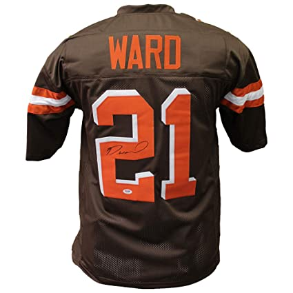 new concept 86a71 cb93a Denzel Ward Cleveland Browns Autographed Signed Brown Jersey ...