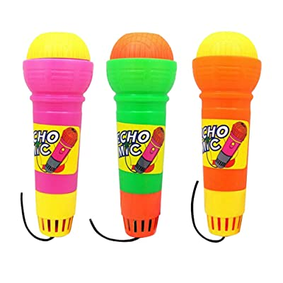 YeahiBaby Kids Echo Microphone Toys for Themed Birthday Parties Pretend Play 3 Pieces (No Need Battery)