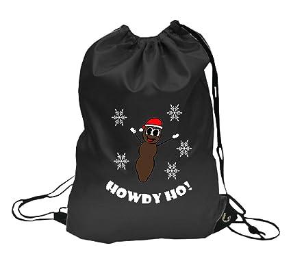 mr hankey the christmas poo south park drawstring backpack black