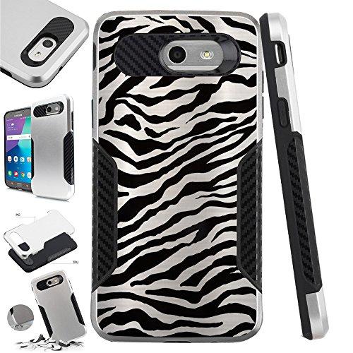 - For Samsung Galaxy J3 Emerge | J3 Mission | J3 Eclipse | J3 Luna Pro| Amp Prime 2 | Express Prime 2 | J3 (2017) | Sol 2 Case Hybrid TPU Carbon Slim Guard Phone Cover (Zebra Skin)