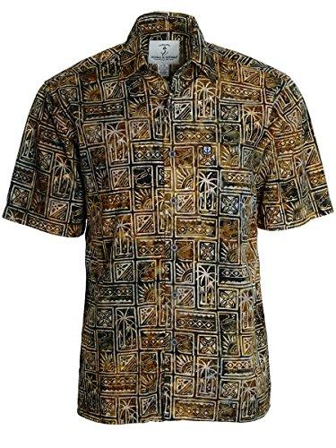 Price comparison product image Artisan Outfitters Mens Outer Banks Batik Cotton Shirt A0214-18 (3XLT