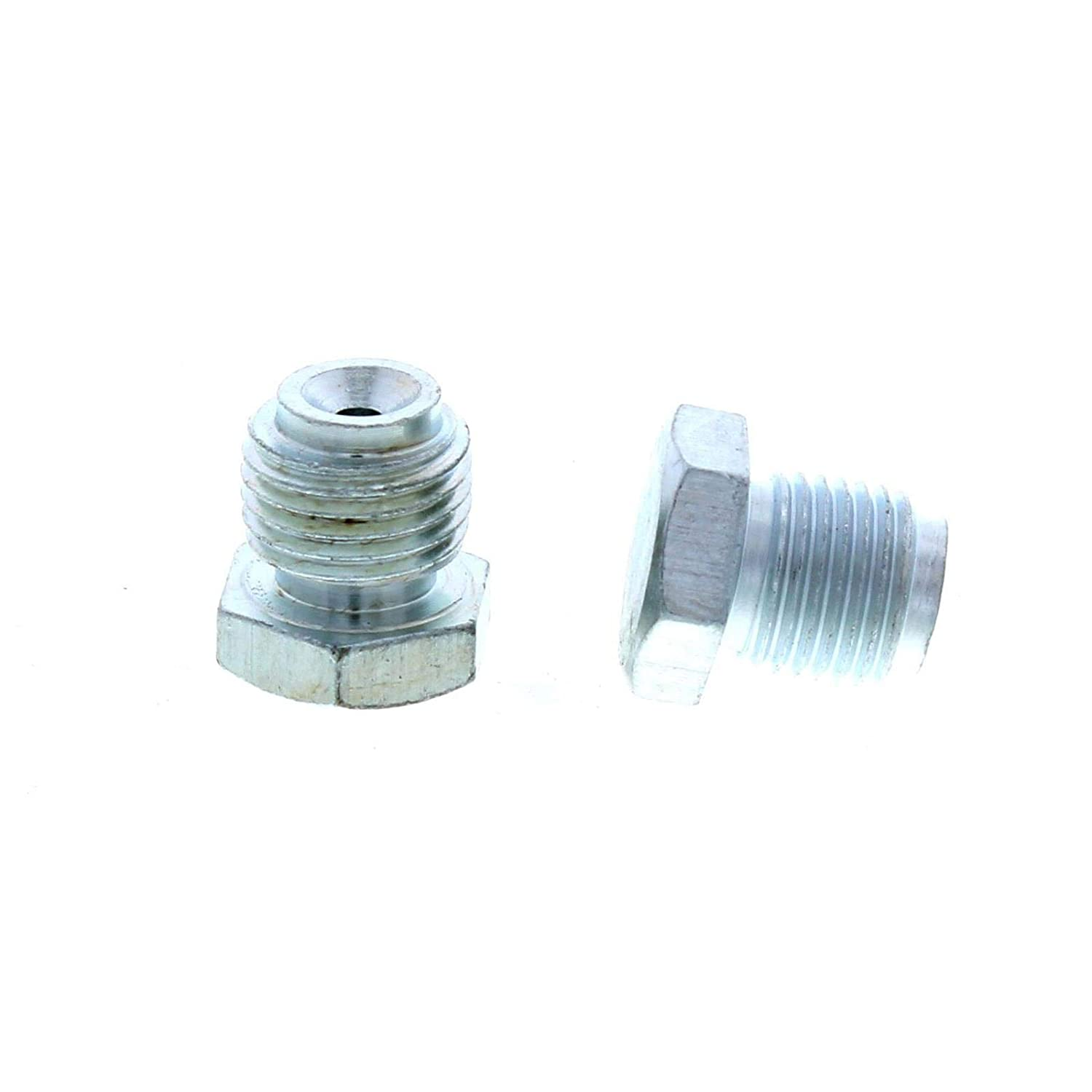 Master Cylinder Plugs, 1/2'-20 & 9/16'-18, Zinc Finish 1/2-20 & 9/16-18 Speedway Motors