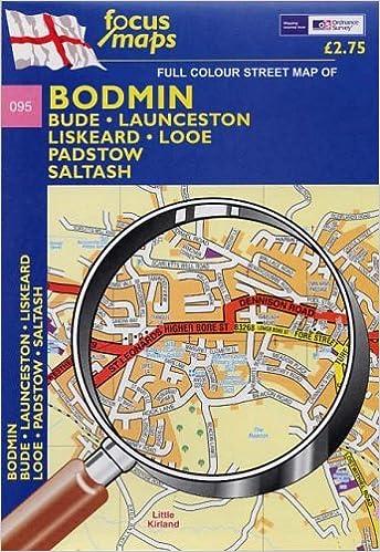 Bodmin: Bude, Launceston, Liskeard, Looe Padstow, Saltash Map