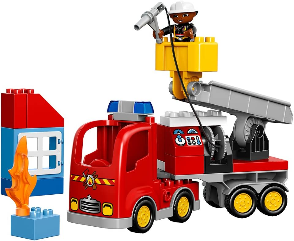 LEGO 10901 Duplo Town Rescue Fire Truck With Lights And Sounds Building Toy Set