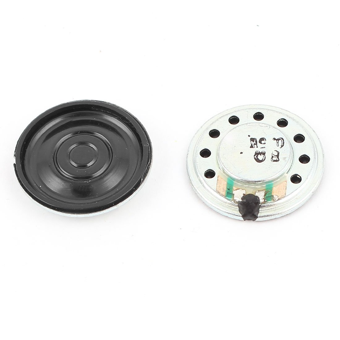uxcell 2Pcs 0.5W 8Ohm 20mm Round Inside Magnet Electronic Speaker Trumpet