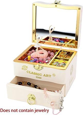 sunzhenhao - Joyero con cajonera para Joyas, Caja de música para Joyas y Caja de música con Caja de Ballet giratoria: Amazon.es: Hogar
