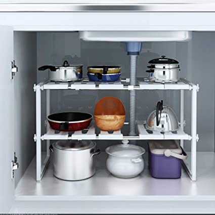 Terrific Kurtzy Under Sink Tawa Rack Stainless Steel Shelf Extendable Storage Organizer Holder For Home Kitchen And Bathroom Complete Home Design Collection Barbaintelli Responsecom